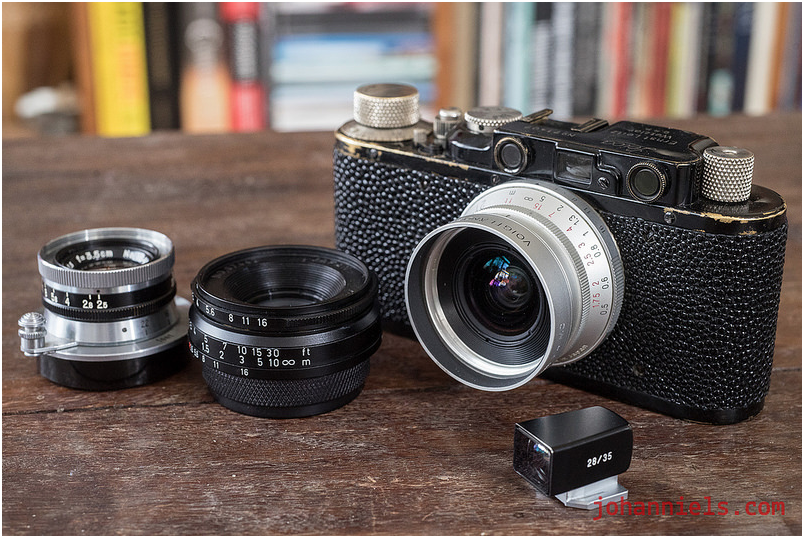 Leica II rangefinder camera with M39 lenses